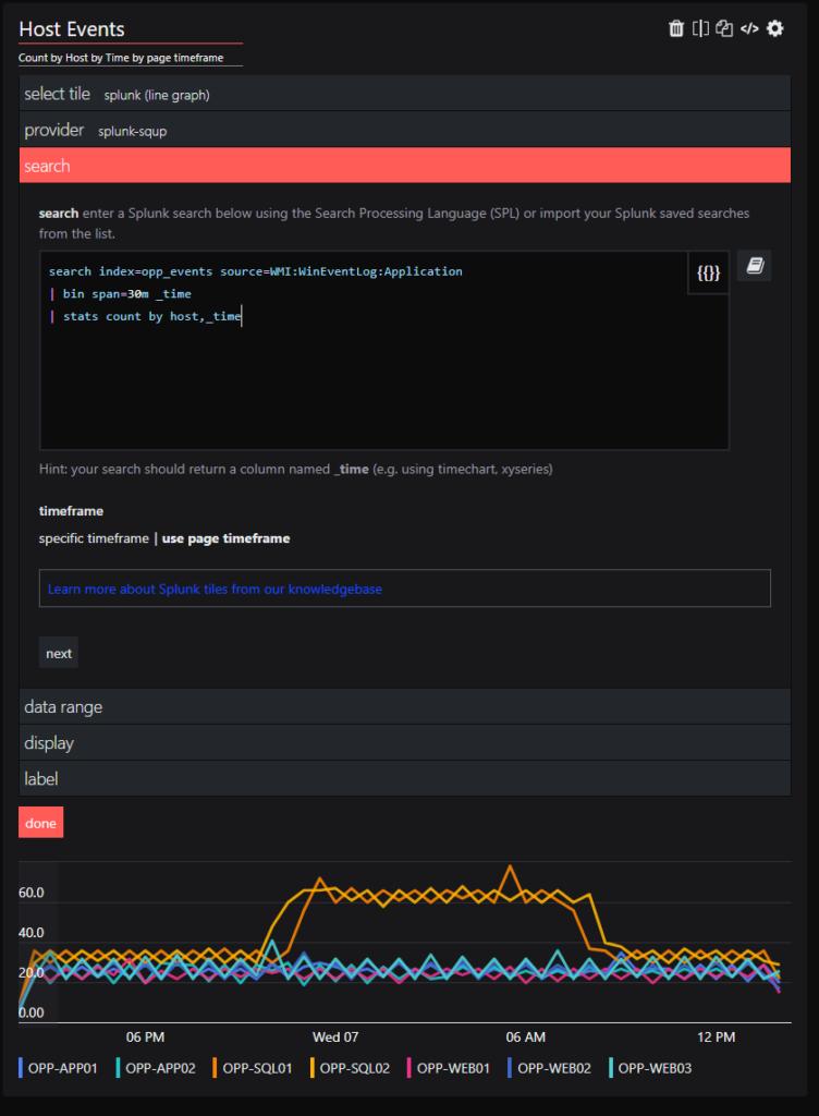 splunk integration - query example