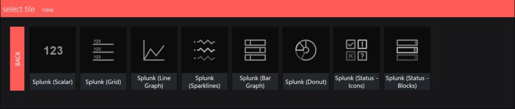 splunk integration - select a visual
