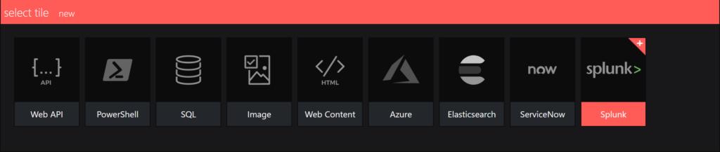 splunk integration - select an integration
