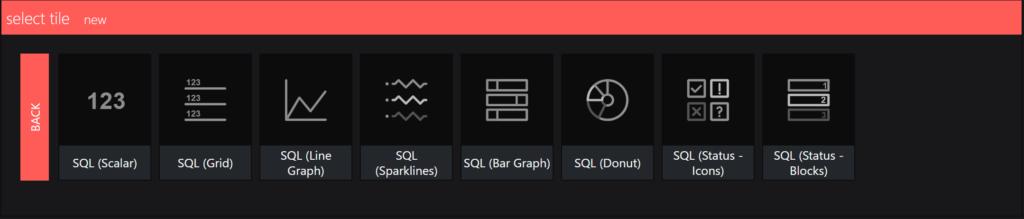 SquaredUp integrations - sql visual section