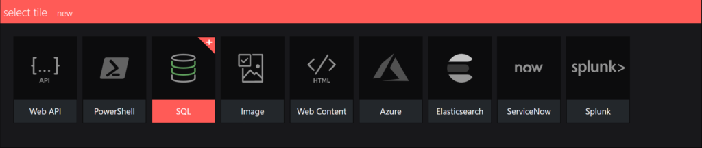 SquaredUp integrations - sql select an integration