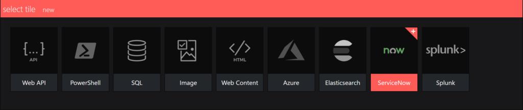 SquaredUp Integrations - servicenow select an integration