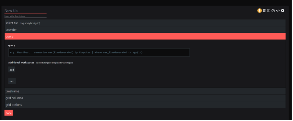 SquaredUp Integrations - azure enter kql query