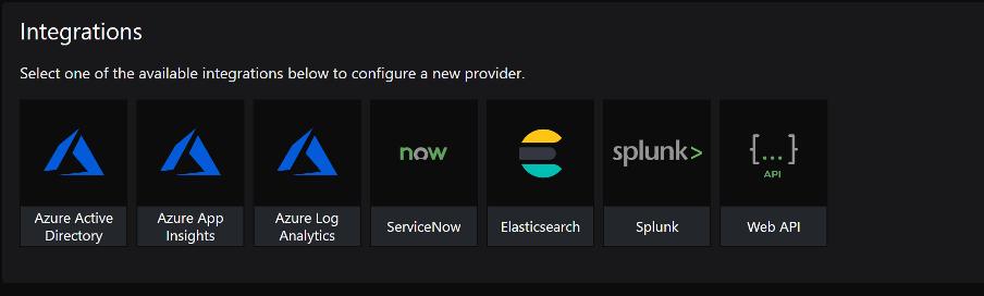 SquaredUp integrations - configure api auth provider web api